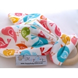 LITTLE BIRDS Natural Organic Wooden Teething Ring ,,BUNNY,,