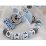 3D Mouse with Bow Personalised Wooden Dummy Clip