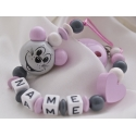 3D Mouse with Heart Personalised Wooden Dummy Clip
