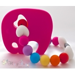 Hot Pink Elephant Silicone Teether & Chew Toy