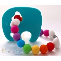 Teal Elephant Silicone Teether & Chew Toy