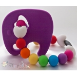 Purple Elephant Silicone Teether & Chew Toy