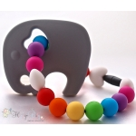 Grey Elephant Silicone Teether & Chew Toy