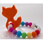Orange Fox Silicone Teether & Chew Toy