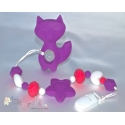 Silicone Toy & Teether & Nibblers - Fox Purple