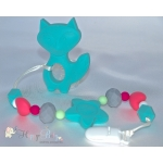 Silicone Toy & Teether & Nibblers - Fox Aqua