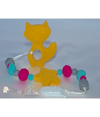 Silicone Toy & Teether & Nibblers - Fox Yellow