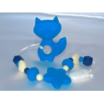 Silicone Toy & Teether & Nibblers - Fox Blue