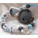 BOAT & STAR Personalised Wooden Dummy Clip/Chain