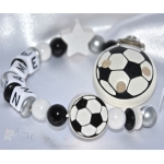 FOOTBALL CLASIC Personalised Wooden Dummy Clip / Chain