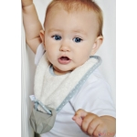 Eco Teether supeRRO Baby Hevea with Bamboo Bib by Lullalove * Ecru