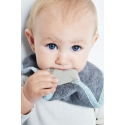 Eco Teether supeRRO Baby Hevea with Bamboo Bib by Lullalove * Grey