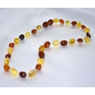 Baby Amber Teething Necklace & Olive Style