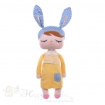 Metoo Mint Yellow  Angela Doll - Bunny Doll - 42cm.