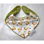 Warm Scarf / Bandana - FOXES & Olive Green