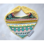 Warm Scarf / Bandana - AZTEC & Yellow