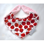 Warm Scarf / Bandana - LADYBIRDS & Light Pink