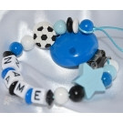 FOOTBALL  Personalised Wooden  Dummy Clip / Chain