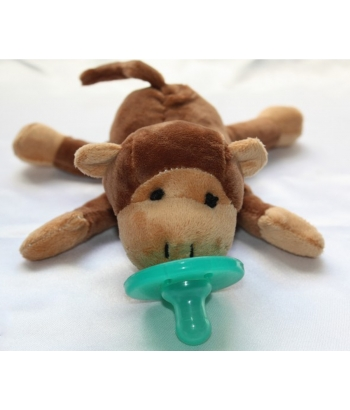 Soft Cozy Plush Toy Pacifier /Good Sleep - MONKEY