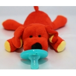 Soft Cozy Plush Toy Pacifier /Good Sleep - DOG