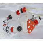 TOADSTOOL & STAR Personalised Wooden Dummy Clip / Chain