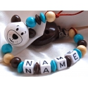 3D Brown CAT Personalised Wooden Dummy Clip / Chain