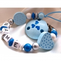 Sweet Dots Personalised Wooden Dummy Clips / Chains