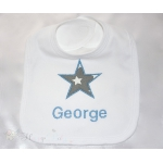 Personalised aplique Boy  Bib
