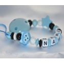 FOX & STAR Personalised Wooden Dummy Clip / Chain / Holder