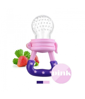 PINK Baby Feeding Pacifier Fresh Food Fruits/Feeder Dummy Soother