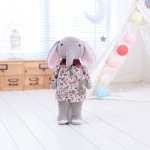 Metoo Elephant Doll wear Natural Flower Dress - 32 cm.