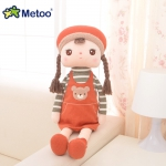 Metoo Angela Doll wear dark Orange Dress - 40 cm.