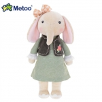 Metoo Elephant Doll wear Green Dress - 32 cm.