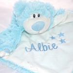 Blue Bear PERSONALISED Baby Comforter Snuggle Blanket