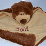 Brown Bear PERSONALISED Baby Comforter Snuggle Blanket