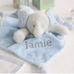 Personalised Blue Elephant Comforter