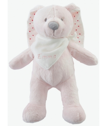 Personalised Plush Bunny Soft Toy with Gift Box-Pink