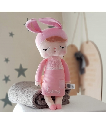 Pink  Angela Doll - Bunny Doll - 42cm / SNOOZE baby