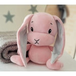 Personalised GREY Cute Rabbit plush Toy & Accompany sleep