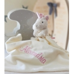 Personalised JellyCat Bashful Unicorn Soother / Baby Blankets / Security Blankets