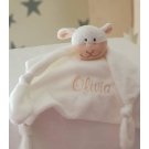 SHEEP Personalised Baby Comfort Blanket / Baby Knoted Blanket at Mothercare