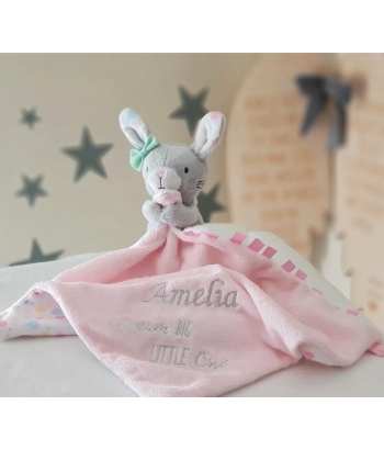 Personalised Bunny Comfort Blanket / Confetti Party Blankie by Mothercare