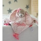 Personalised Bunny Baby Pink  Comfort Blankiet  / Teether Blankie / Soother Blanket / Tags Blanket