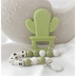 Personalised Baby Teether Cactus Lemon