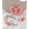 Personalised Baby Silicone Teether Butterfly / Dummy Clip