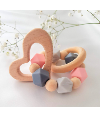 Baby Teether Ring . Organic Baby Teether. Silicne Teether Ring