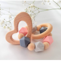 Baby Teether Ring . Organic Baby Teether. Silicone Teether Ring