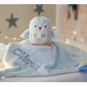 Personalised Little Penguin Cot Snuggle Gift/Baby Comforter / Blanket / Soother Blanket / Baby Gift / Christmas Gift