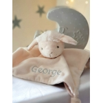 Personalised Tommee Tippee SHEEP Cot Snuggle Gift/Baby Comforter / Blanket / Soother Blanket