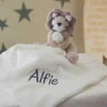 The Little White Company Personalised Lion Snuggle /Baby blankets/ Baby Shower Gift